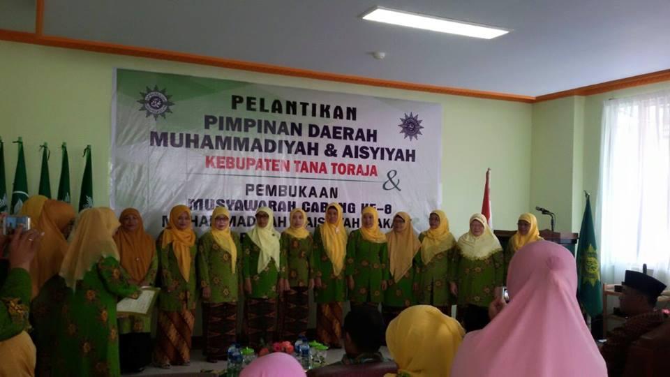 Pelantikan PDM dan PDA Tana Toraja yang dirangkaikan dengan Musyawarah Cabang Makale Ke 8 pada tanggal 22 Mei 2016 d Jln Musa No 10 Telp (0423)22261 Makale 91811